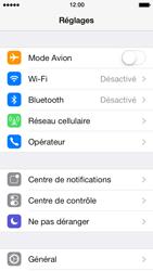 Apple iPhone 5 iOS 7 - Internet et roaming de données - Comment vérifier que la connexion des données est activée - Étape 3