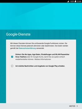 Samsung Galaxy Tab A 9.7 - Apps - Konto anlegen und einrichten - 14 / 18