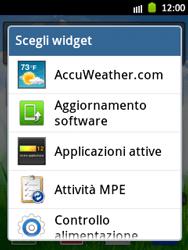 Samsung Galaxy Pocket - Operazioni iniziali - Installazione di widget e applicazioni nella schermata iniziale - Fase 4