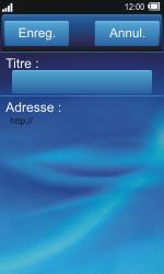 Sony TXT Pro - Internet - Navigation sur Internet - Étape 11