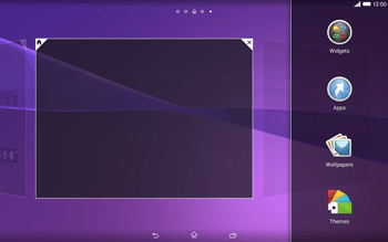 Sony Xperia Tablet Z2 LTE - Getting started - Installing widgets and applications on your start screen - Step 4