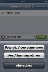 Apple iPhone 4S - MMS - Erstellen und senden - Schritt 10