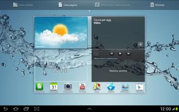 Samsung Galaxy Tab 2 10.1 - Operazioni iniziali - Installazione di widget e applicazioni nella schermata iniziale - Fase 7