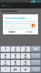 LG D505 Optimus F6 - Voicemail - Manual configuration - Step 8