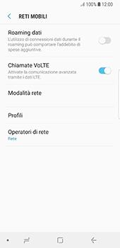 Samsung Galaxy S8 - Android Oreo - Rete - Selezione manuale della rete - Fase 6