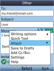 Nokia C2-05 - E-mail - Sending emails - Step 12