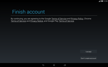 Sony Xperia Tablet Z2 LTE - Applications - Setting up the application store - Step 16