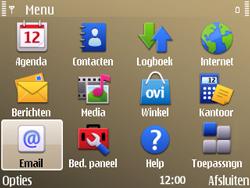 Nokia E72 - E-mail - Handmatig instellen - Stap 3
