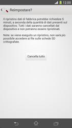 Sony Xperia Z1 Compact - Dispositivo - Ripristino delle impostazioni originali - Fase 8
