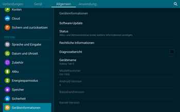 Samsung T805 Galaxy Tab S - Software - Installieren von Software-Updates - Schritt 7