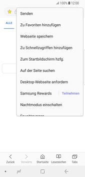 Samsung Galaxy S9 - Internet und Datenroaming - Verwenden des Internets - Schritt 19