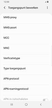 Samsung galaxy-s9-android-pie - internet - handmatig instellen - stap 13