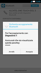 Alcatel One Touch Idol S - Bluetooth - Collegamento dei dispositivi - Fase 8