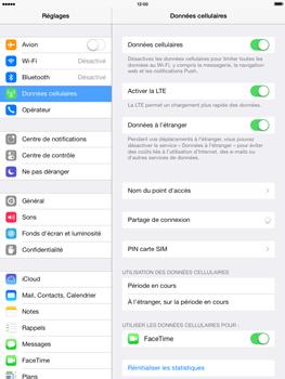 Apple iPad Air - Internet et roaming de données - Désactivation du roaming de données - Étape 4