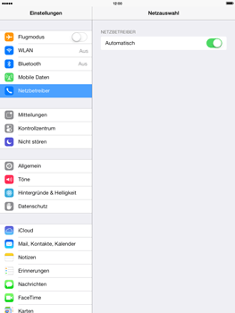 Apple iPad mini 2 - Netzwerk - Manuelle Netzwerkwahl - Schritt 4
