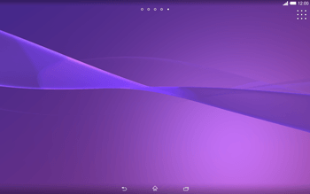 Sony Xperia Tablet Z2 LTE - Getting started - Installing widgets and applications on your start screen - Step 3