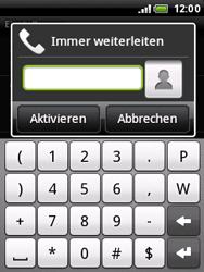 HTC A3333 Wildfire - Anrufe - Rufumleitungen setzen und löschen - Schritt 7