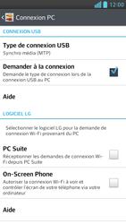 LG Optimus F6 - Internet et connexion - Utiliser le mode modem par USB - Étape 6