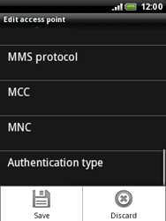 HTC A3333 Wildfire - Internet - Manual configuration - Step 11