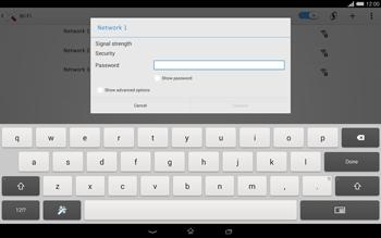 Sony Xperia Tablet Z2 LTE - WiFi - WiFi configuration - Step 7