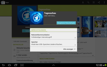 Samsung Galaxy Note 10-1 - Apps - Herunterladen - 8 / 22
