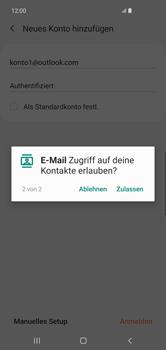 Samsung Galaxy S10 Plus - E-Mail - 032c. Email wizard - Outlook - Schritt 12