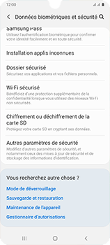Samsung Galaxy A41 - Sécuriser votre mobile - Personnaliser le code PIN de votre carte SIM - Étape 5