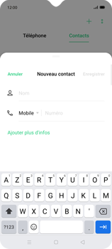 Oppo Find X2 Lite - Contact, Appels, SMS/MMS - Ajouter un contact - Étape 5