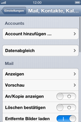 Apple iPhone 4S - E-Mail - Manuelle Konfiguration - Schritt 8