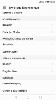 Huawei Mate 9 - Gerät - Zurücksetzen auf die Werkseinstellungen - Schritt 4