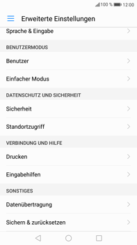 Huawei Mate 9 - Fehlerbehebung - Handy zurücksetzen - Schritt 6