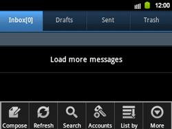 Samsung B5510 Galaxy TXT - E-mail - Sending emails - Step 5