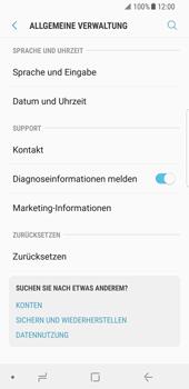 Samsung Galaxy S8 - Fehlerbehebung - Handy zurücksetzen - 7 / 12