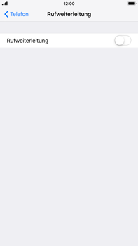 Apple iPhone 7 Plus - iOS 12 - Anrufe - Rufumleitungen setzen und löschen - Schritt 5