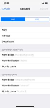 Apple iPhone X - iOS 12 - E-mail - Configuration manuelle - Étape 12