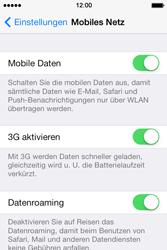 Apple iPhone 4S iOS 7 - Internet und Datenroaming - Deaktivieren von Datenroaming - Schritt 4