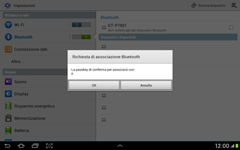 Samsung Galaxy Tab 2 10.1 - Bluetooth - Collegamento dei dispositivi - Fase 7