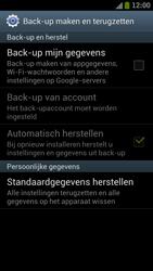 Samsung I9300 Galaxy S III - Instellingen aanpassen - Fabrieksinstellingen terugzetten - Stap 5