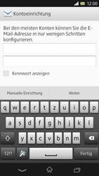 Sony Xperia Z - E-Mail - Manuelle Konfiguration - Schritt 5