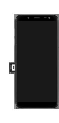 Samsung galaxy-j6-sm-j600fn-ds - Instellingen aanpassen - SIM-Kaart plaatsen - Stap 5