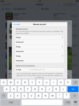 Apple iPad 4th generation (Retina) met iOS 7 - Applicaties - Account aanmaken - Stap 14