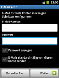 Samsung Galaxy Pocket - E-Mail - Manuelle Konfiguration - Schritt 6