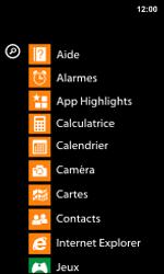 Nokia Lumia 800 / Lumia 900 - Internet et roaming de données - Navigation sur Internet - Étape 3