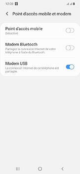 Samsung Galaxy A20e - Internet et connexion - Utiliser le mode modem par USB - Étape 9