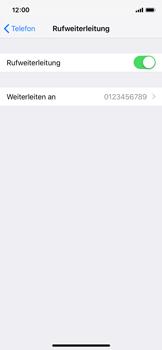 Apple iPhone XS - Anrufe - Rufumleitungen setzen und löschen - 8 / 9