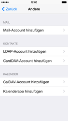 Apple iPhone 5s iOS 8 - E-Mail - Manuelle Konfiguration - Schritt 6