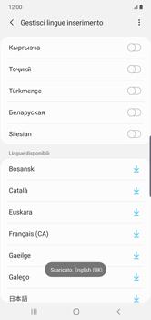 Samsung Galaxy Note 10 Plus 5G - Operazioni iniziali - Come aggiungere una lingua alla tastiera - Fase 13