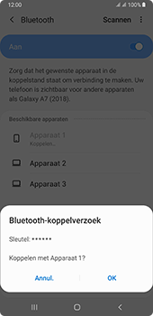Samsung galaxy-a7-dual-sim-sm-a750fn-android-pie - Bluetooth - Headset, carkit verbinding - Stap 8