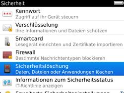 BlackBerry 9900 Bold Touch - Fehlerbehebung - Handy zurücksetzen - Schritt 7