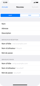 Apple iPhone X - iOS 12 - E-mail - Configuration manuelle - Étape 10